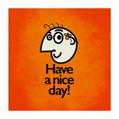 Have A Nice Day Happy Character Glasses Cloth (Medium, Two Sided)