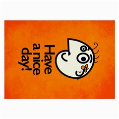 Have A Nice Day Happy Character Glasses Cloth (large)