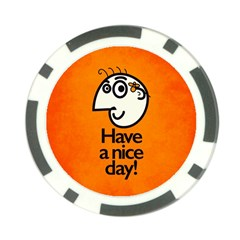 Have A Nice Day Happy Character Poker Chip (10 Pack)