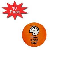 Have A Nice Day Happy Character 1  Mini Button (10 pack)