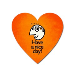 Have A Nice Day Happy Character Magnet (heart)