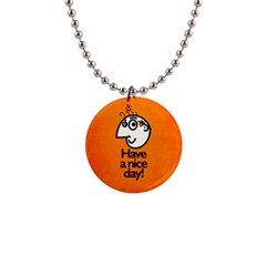 Have A Nice Day Happy Character Button Necklace