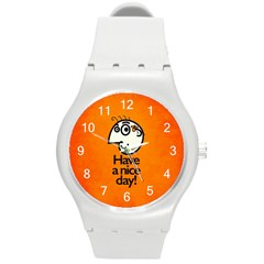 Have A Nice Day Happy Character Plastic Sport Watch (medium)