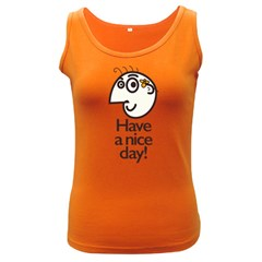 Have A Nice Day Happy Character Women s Tank Top (dark Colored)
