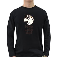 Have A Nice Day Happy Character Men s Long Sleeve T-shirt (Dark Colored)