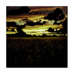 Dark Meadow Landscape  Ceramic Tile