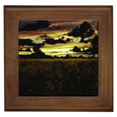 Dark Meadow Landscape  Framed Ceramic Tile