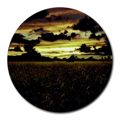 Dark Meadow Landscape  8  Mouse Pad (Round)