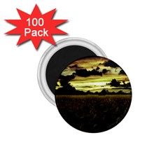 Dark Meadow Landscape  1.75  Button Magnet (100 pack)