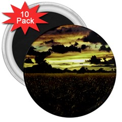 Dark Meadow Landscape  3  Button Magnet (10 pack)