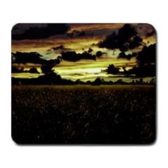 Dark Meadow Landscape  Large Mouse Pad (Rectangle)