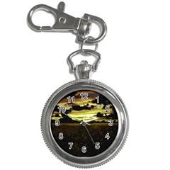 Dark Meadow Landscape  Key Chain Watch