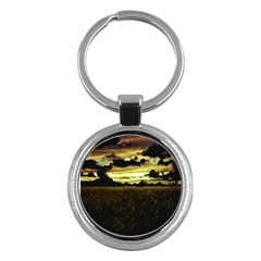 Dark Meadow Landscape  Key Chain (Round)