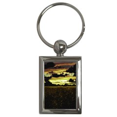 Dark Meadow Landscape  Key Chain (Rectangle)