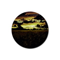 Dark Meadow Landscape  Drink Coasters 4 Pack (round)