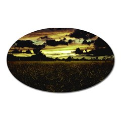 Dark Meadow Landscape  Magnet (oval)