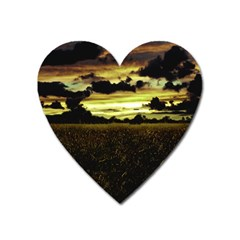 Dark Meadow Landscape  Magnet (Heart)