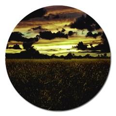 Dark Meadow Landscape  Magnet 5  (Round)