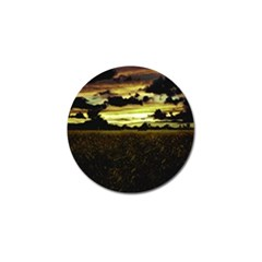 Dark Meadow Landscape  Golf Ball Marker 4 Pack