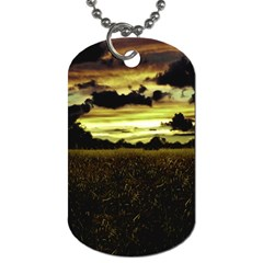Dark Meadow Landscape  Dog Tag (Two-sided)