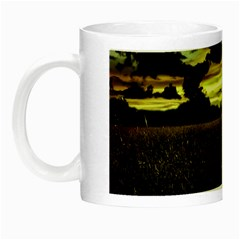 Dark Meadow Landscape  Glow in the Dark Mug