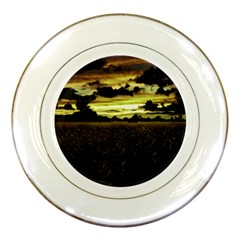 Dark Meadow Landscape  Porcelain Display Plate