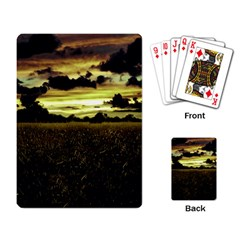 Dark Meadow Landscape  Playing Cards Single Design