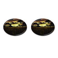 Dark Meadow Landscape  Cufflinks (oval)