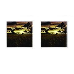Dark Meadow Landscape  Cufflinks (Square)
