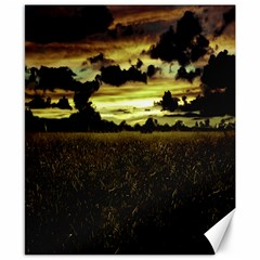 Dark Meadow Landscape  Canvas 8  x 10  (Unframed)