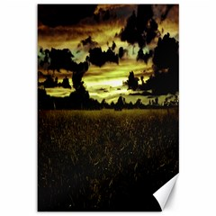 Dark Meadow Landscape  Canvas 12  X 18  (unframed)