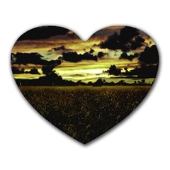 Dark Meadow Landscape  Mouse Pad (Heart)