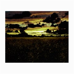 Dark Meadow Landscape  Glasses Cloth (Small, Two Sided)