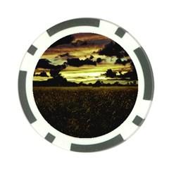 Dark Meadow Landscape  Poker Chip