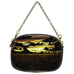Dark Meadow Landscape  Chain Purse (one Side)