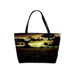 Dark Meadow Landscape  Large Shoulder Bag