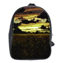 Dark Meadow Landscape  School Bag (Large)