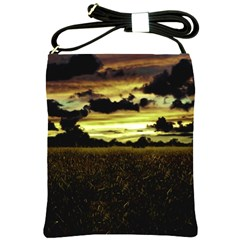 Dark Meadow Landscape  Shoulder Sling Bag