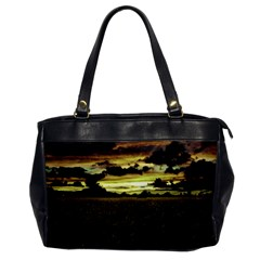 Dark Meadow Landscape  Oversize Office Handbag (one Side)