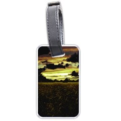 Dark Meadow Landscape  Luggage Tag (Two Sides)