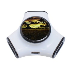 Dark Meadow Landscape  3 Port Usb Hub