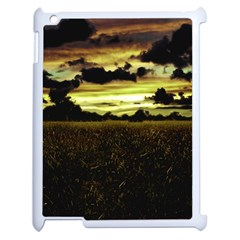 Dark Meadow Landscape  Apple iPad 2 Case (White)