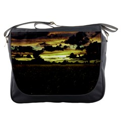 Dark Meadow Landscape  Messenger Bag