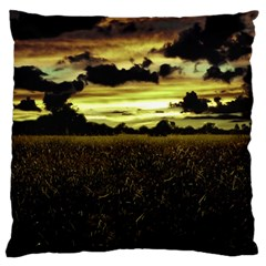 Dark Meadow Landscape  Large Cushion Case (Two Sided)