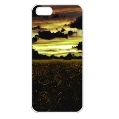 Dark Meadow Landscape  Apple Iphone 5 Seamless Case (white)