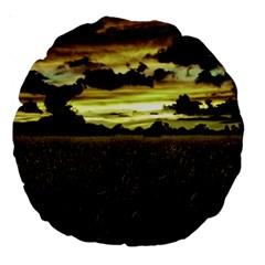 Dark Meadow Landscape  18  Premium Round Cushion