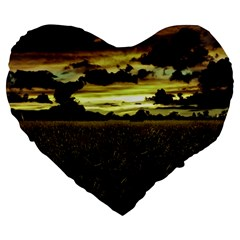 Dark Meadow Landscape  19  Premium Heart Shape Cushion