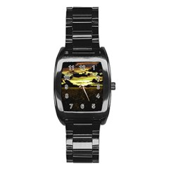 Dark Meadow Landscape  Stainless Steel Barrel Watch