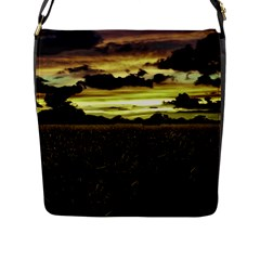 Dark Meadow Landscape  Flap Closure Messenger Bag (Large)