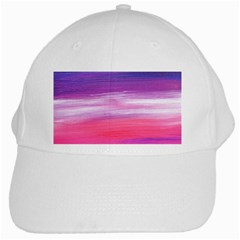 Abstract In Pink & Purple White Baseball Cap